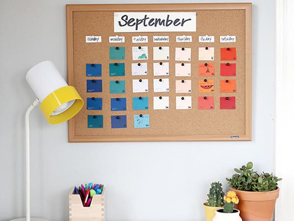 calendario, planificador semanal DIY