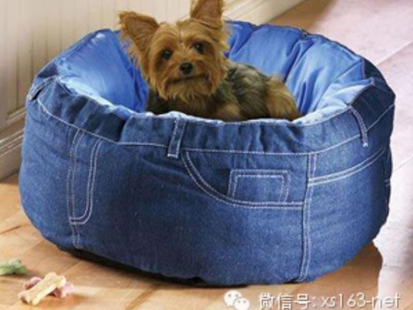ideas reciclar vaqueros cama mascota