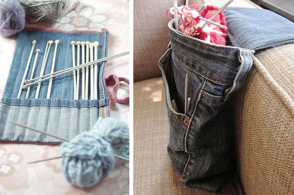 10 ideas creativas para reciclar tus vaqueros viejos manualidades - Decorar pantalones vaqueros ...