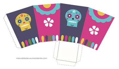 Cajitas Día de los Muertos.Free printable day of the dead