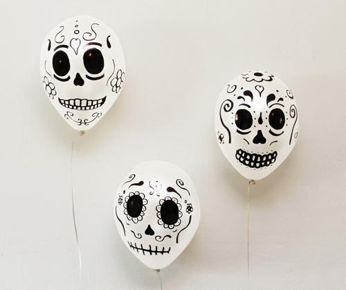 decoración Día de los Muertos o Halloween calaveras mexicanas