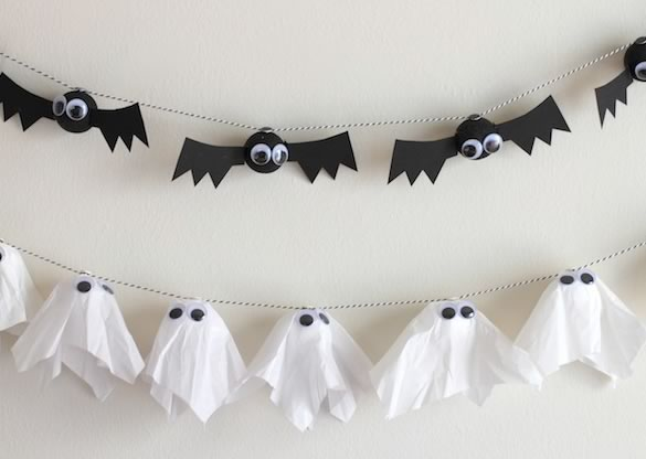 7 creativas y originales guirnaldas para halloween for Ideas de decoracion baratas y originales
