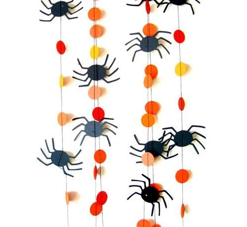 Guirnalda Halloween arañas