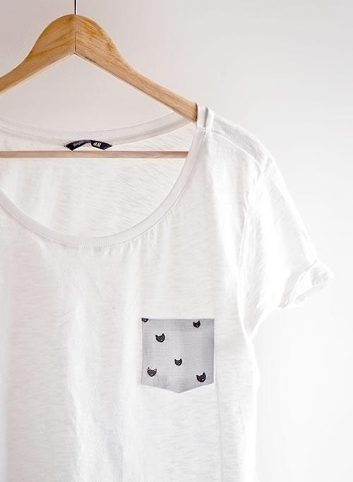 personalizar camiseta sin coser, diy sin coser