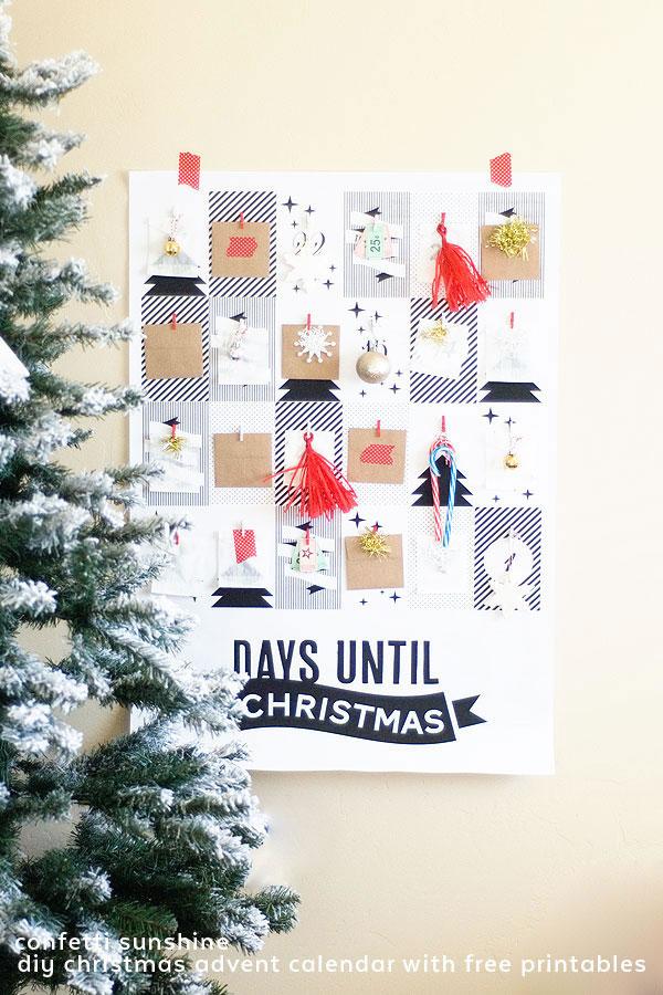 Calendario adviento original con papel