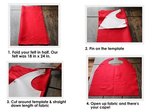 como hacer capa sin coser