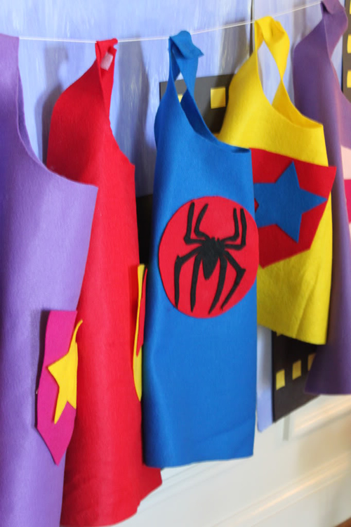 como hacer capa superhéroe sin coser