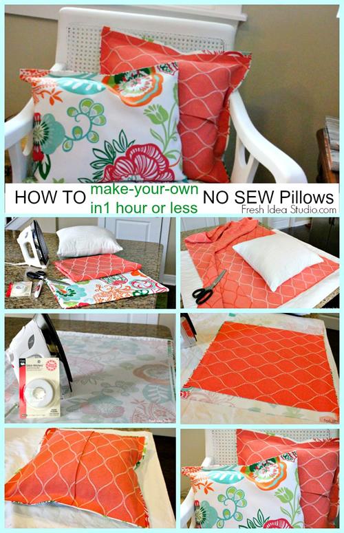 hacer un cojín sin coser, diy fácil