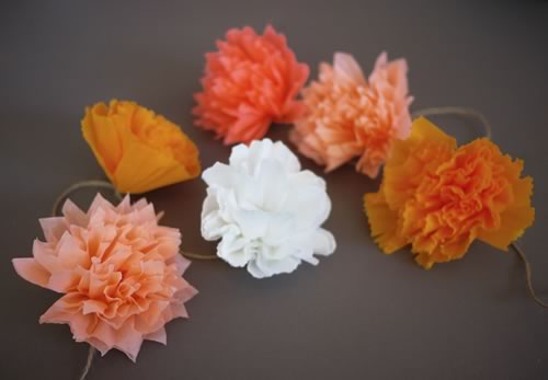 como hacer flores papel crepe o seda para decorar