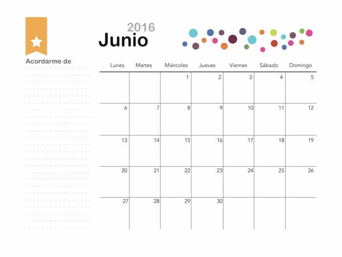 Mes de Junio 2016 para imprimir - Manualidades