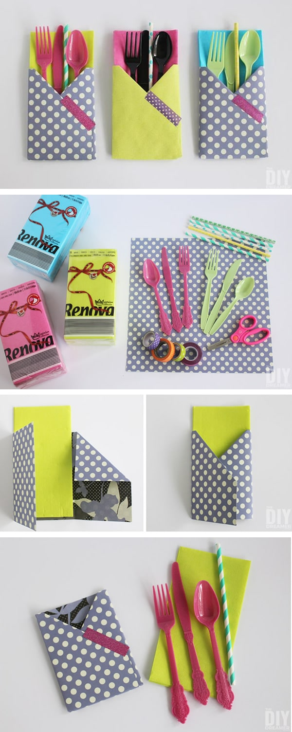 Manualidades: idea poner cubiertos fiesta