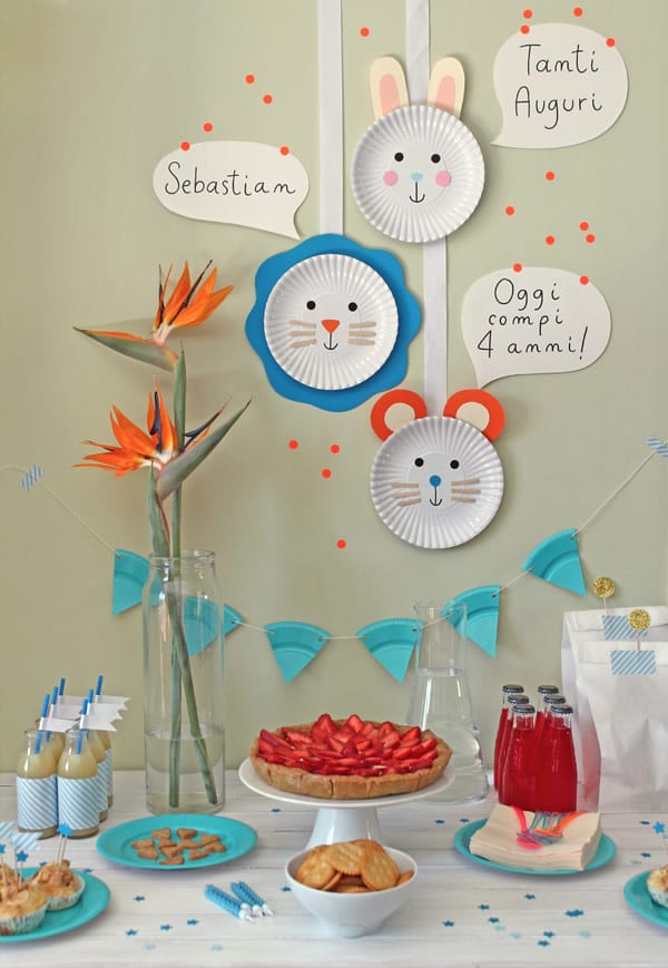 Manualidades para fiesta: decoración mesa