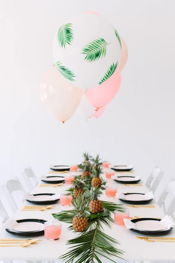Manualidades fiesta cumpleaños: inspiración tropical