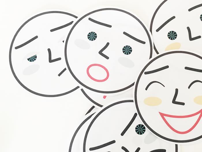 Plantillas con diferentes expresiones para aprender las emociones