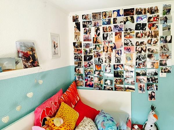 Decorar pared con fotos
