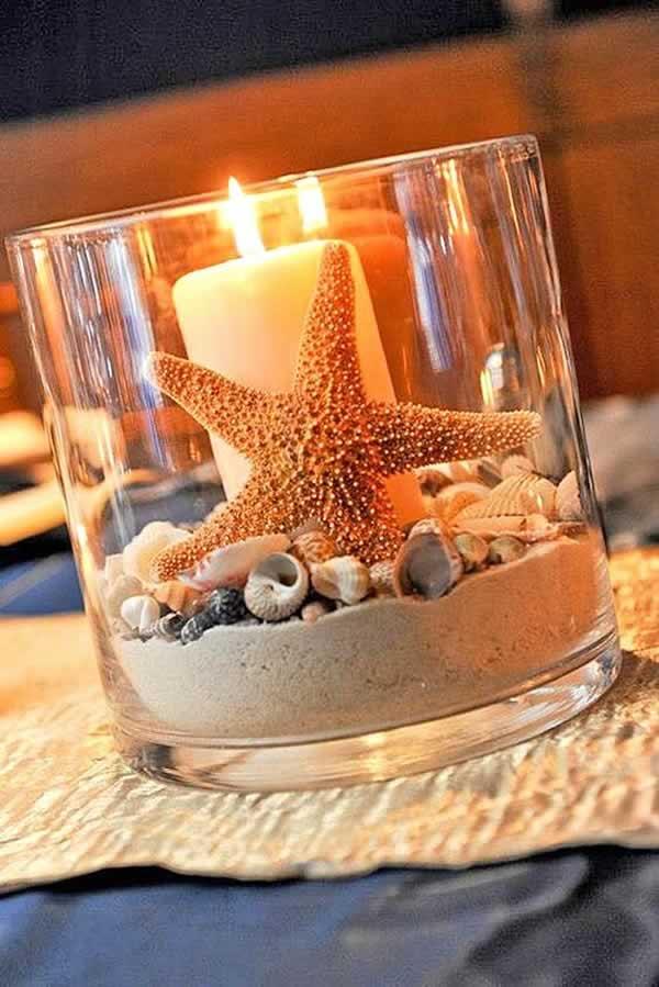 Manualidades con conchas marinas