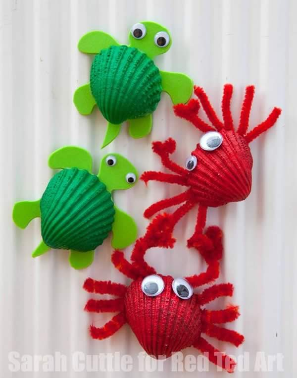 Manualidades con conchas marinas - Manualidades