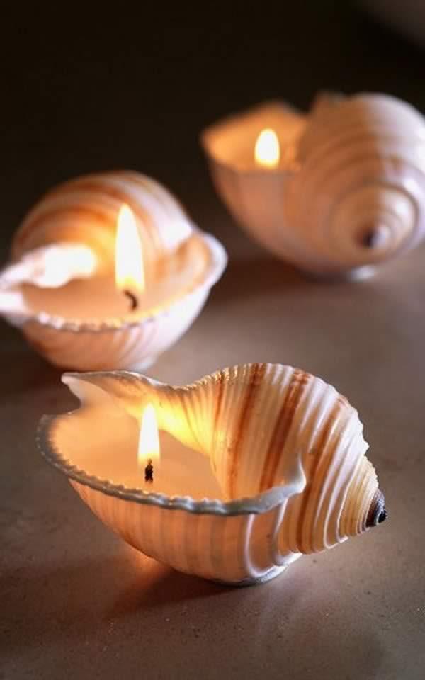 Manualidades con conchas marinas: velas