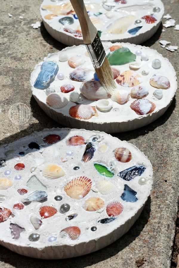 Mosaicos de conchas