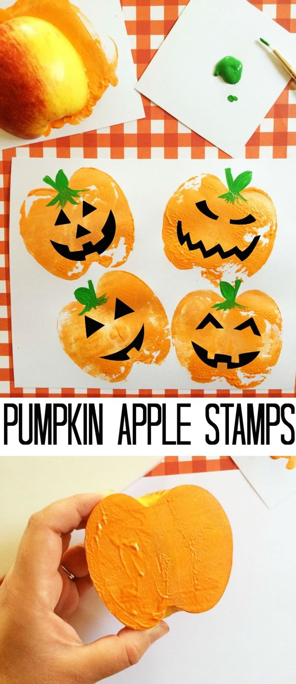 Manualidades de Halloween: calabazas estampadas