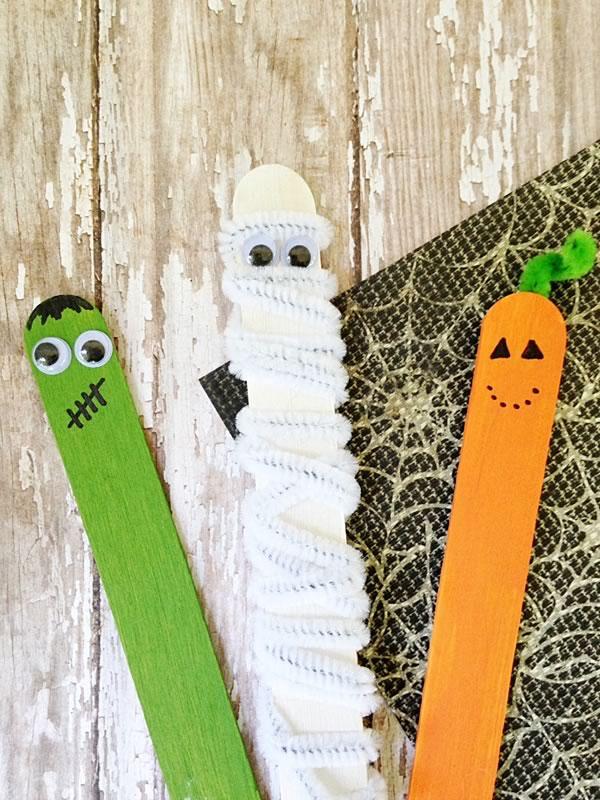 Halloween: manualidades para niños con palitos
