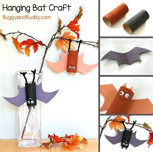 Halloween: manualidades para niños, muerciélagos