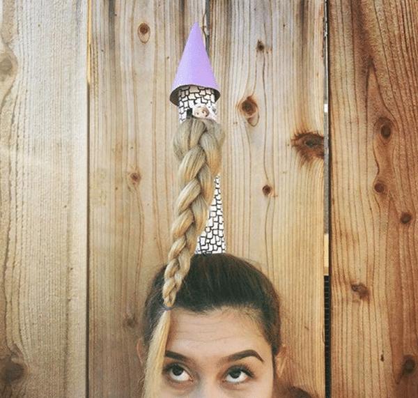 Idea de pelo loco: rapunzel