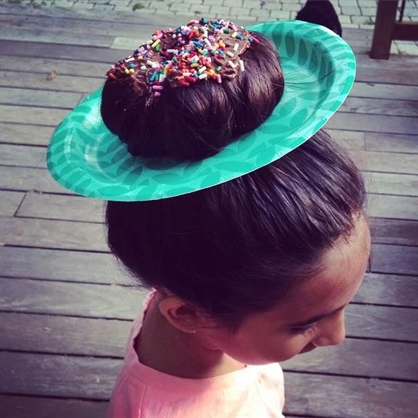 Ideas para peinados fáciles y diivertidos: cupacake