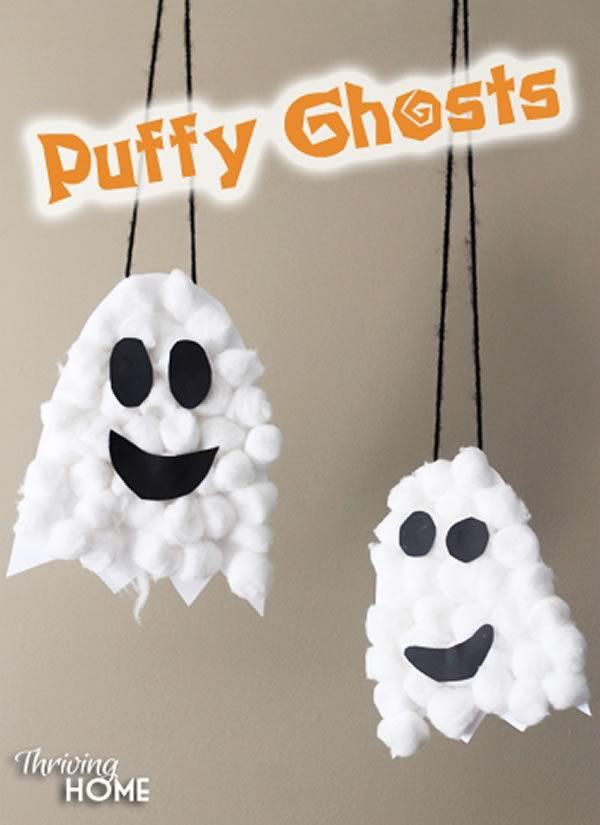 Manualidades de Halloween para niños: fantasmas