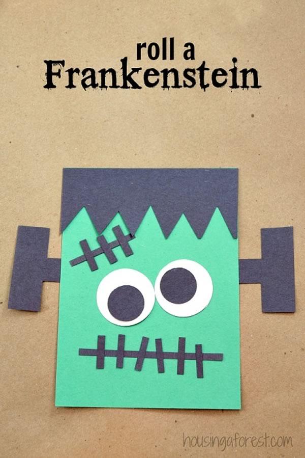 Manualidades de Halloween para niños: Frankestein