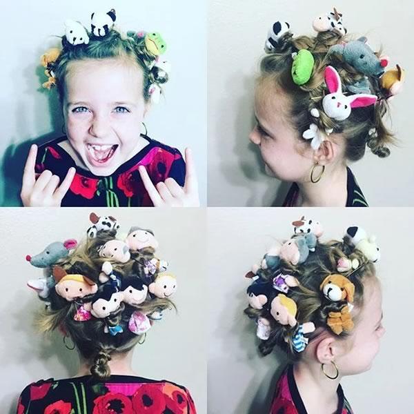 Ideas fáciles y divertidas peinados para niñas