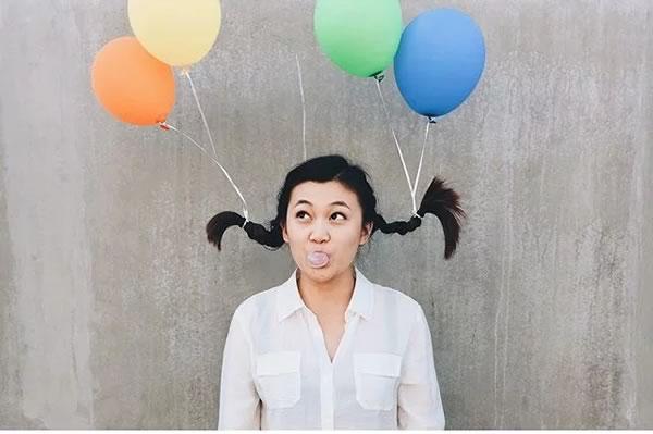 Idea pelo loco con globos