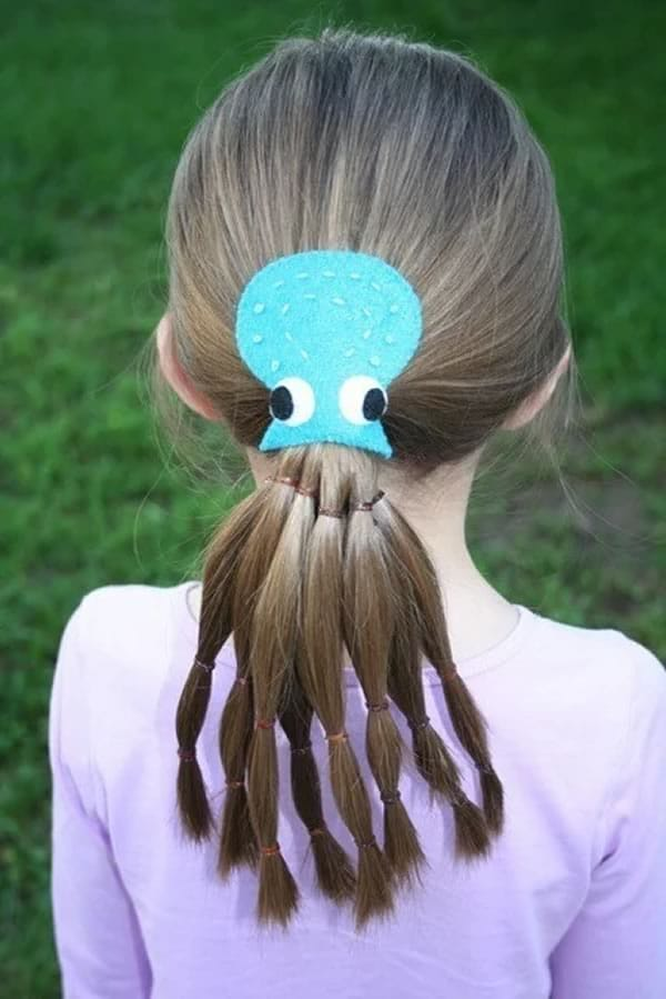 Idea para peinado divertido