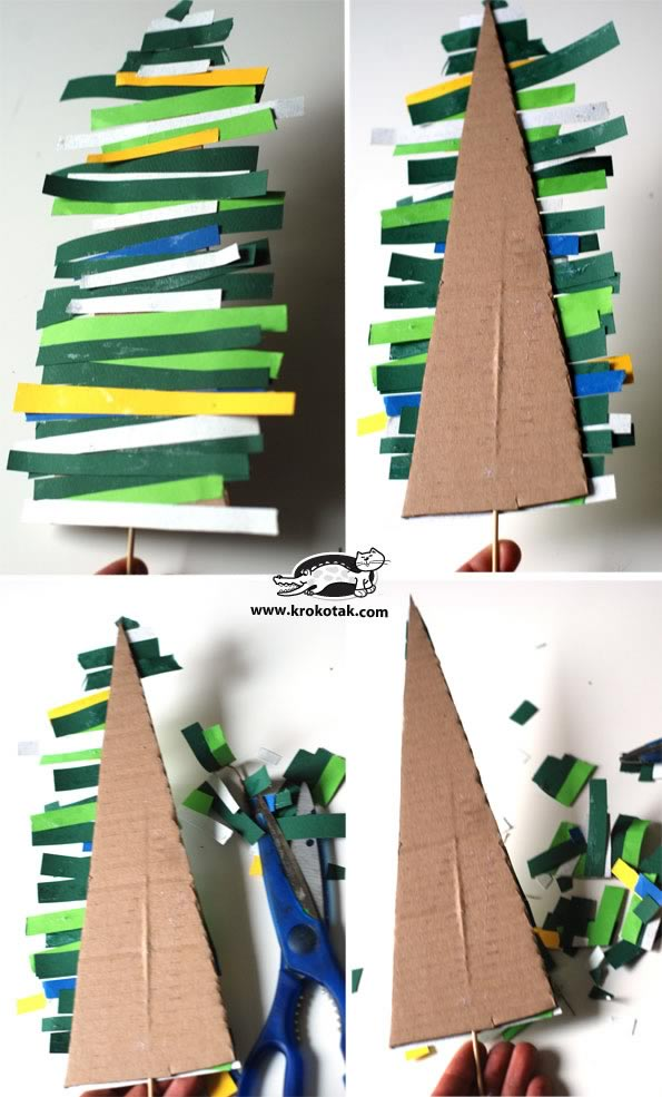 Manualidades: árbol navideño de cartón fácil