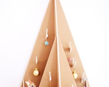 5 formas creativas de hacer un árbol de Navidad con cartón
