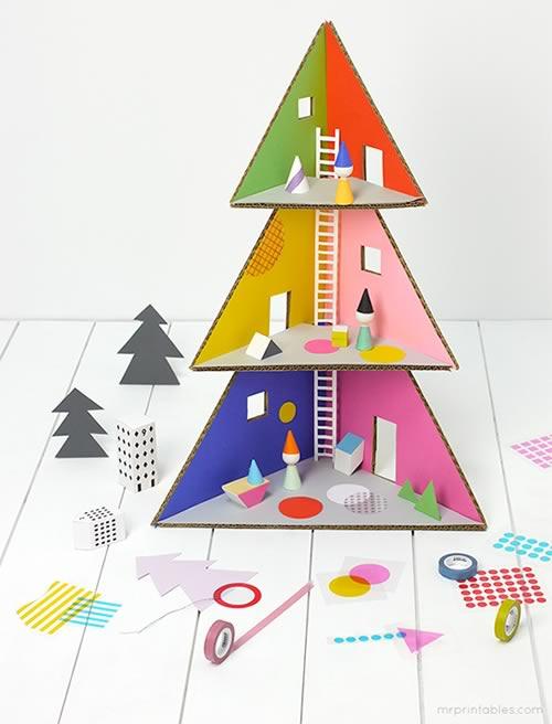 original árbol de Navidad de cartón