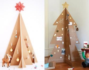 Árboles de Navidad de cartón: ideas