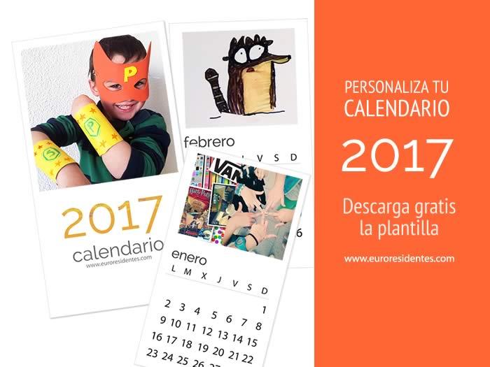 Calendario 2017 para imprimir y personalizar