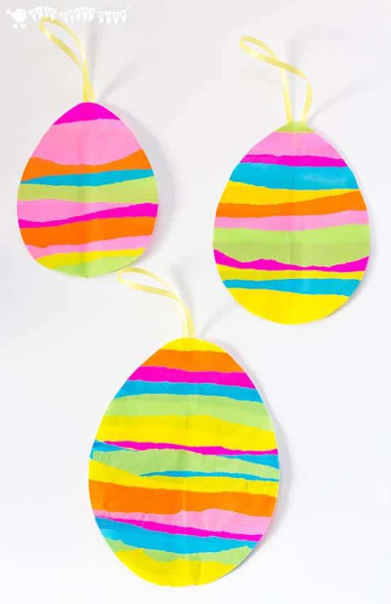 Manualidades de Pascua para niños: huevos de papel