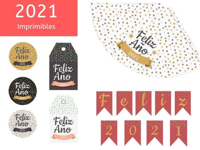 ¡¡Kit de fiesta!! Imprimibles para celebrar la fiesta de Año Nuevo 2020