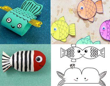 peces papel manualidades