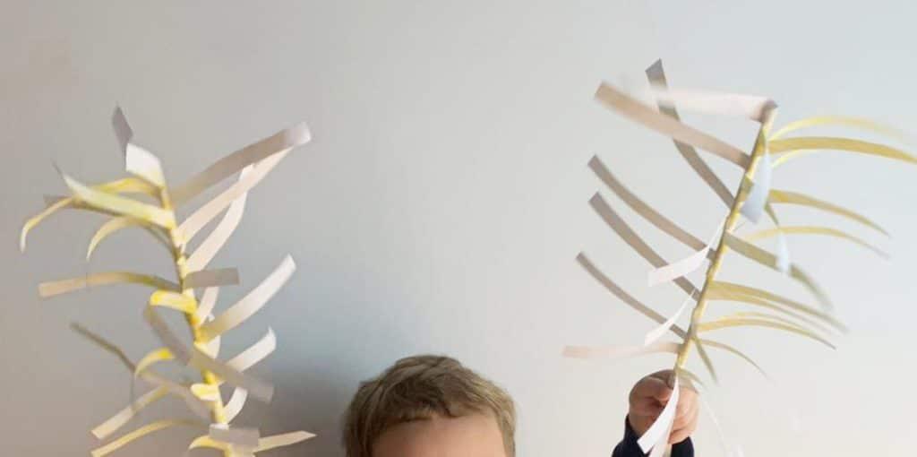 Cómo hacer palma de papel