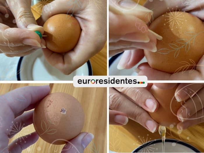 Cómo vaciar huevos sin romperlos