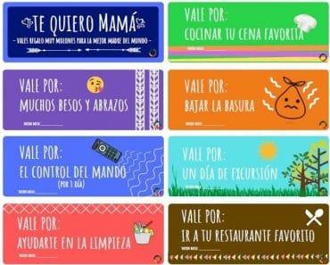 Vales regalo para el Día de la Madre (para descargar) – versión cuarentena