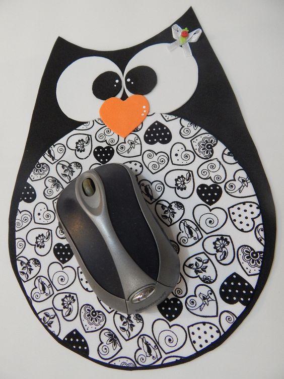 Alfombrilla de ratón hecha con foami