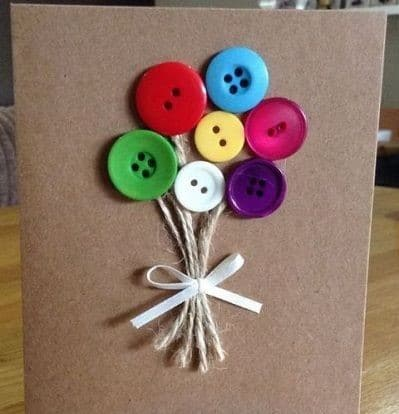 Tarjeta hecha con botones