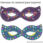 Originales y bonitas máscaras de carnaval para imprimir