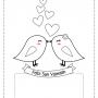 Tarjetas de San Valentín para colorear