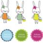 Pascua: dibujos de conejitos para imprimir