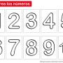 Colorear los números